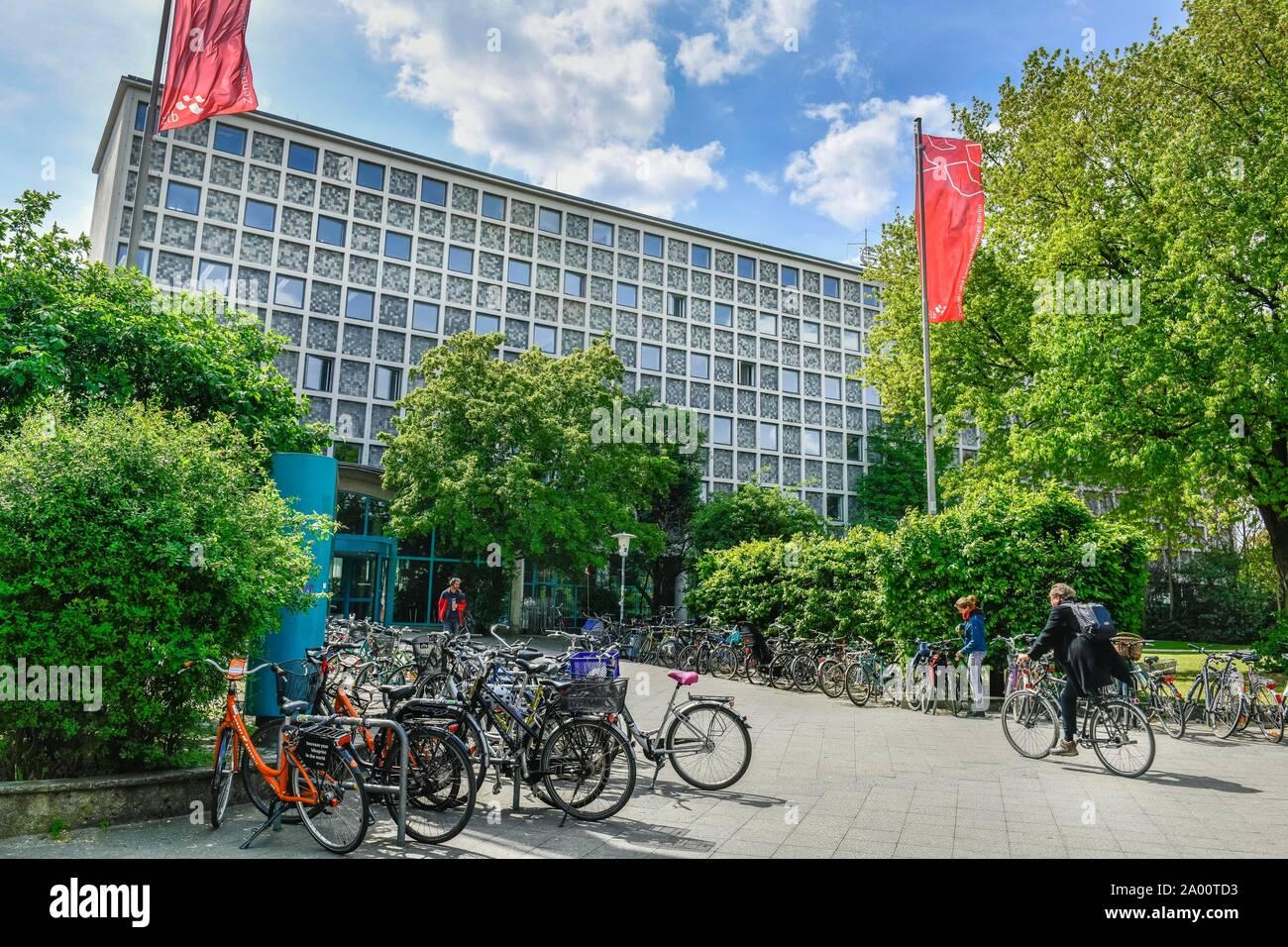Zentral- und Landesbibliothek, Amerika Gedenkbibliothek, Bluecherplatz, Kreuzberg, Berlin, Deutschland, Bl Stock Photo