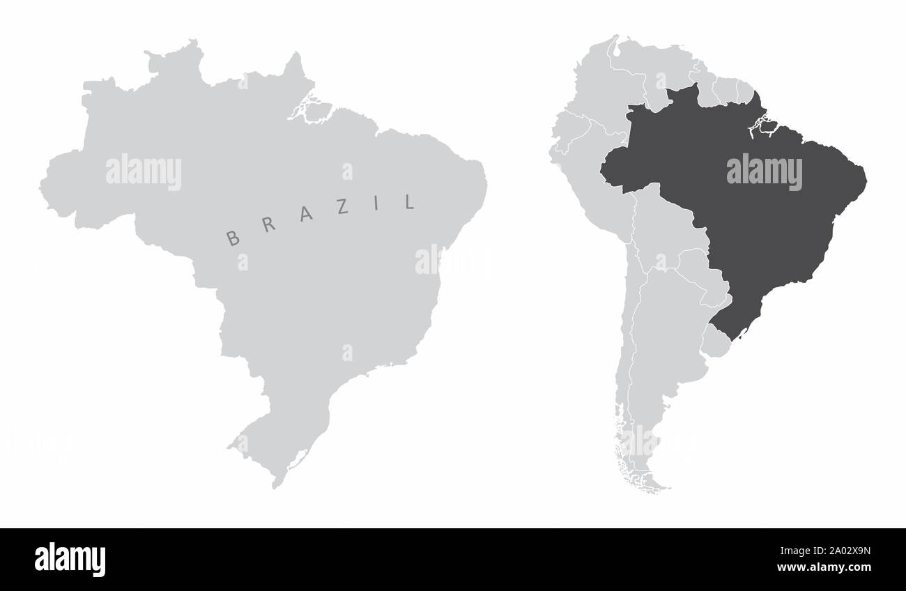 Picture of: Brazil South America Map Stock Vector Image Art Alamy