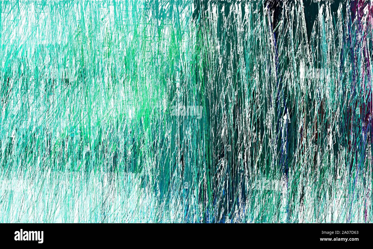 Abstract Painting Strokes Background With Teal Green Very