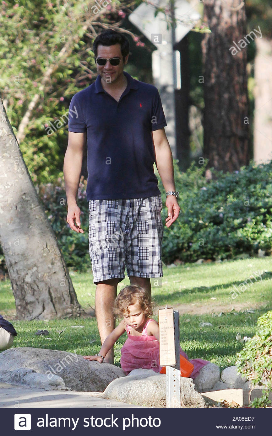 Beverly Hills, CA - Cash Warren and Honor Marie had some late afternoon fun together at Coldwater Park near their home. The daddy and daughter duo spent time together running around the park and playing in the sandbox. Cash cut the fun short after getting frustrated with the paparazzi, never lurking to far away. GSI Media April 16, 2011 Stock Photo