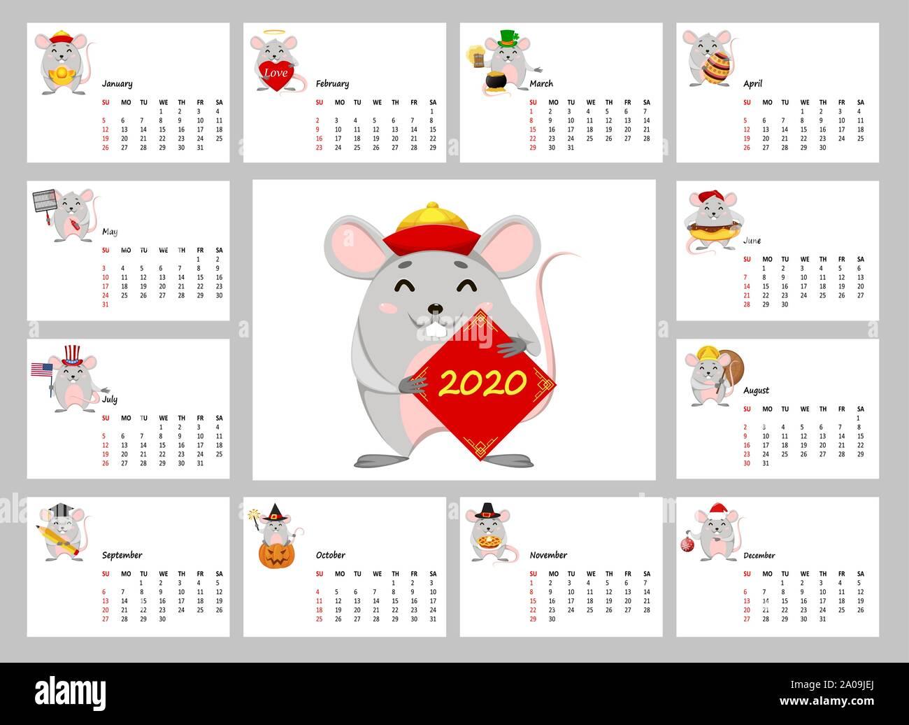 Chinese Lunar Calendar 2020 💣 Chinese New Year 2020