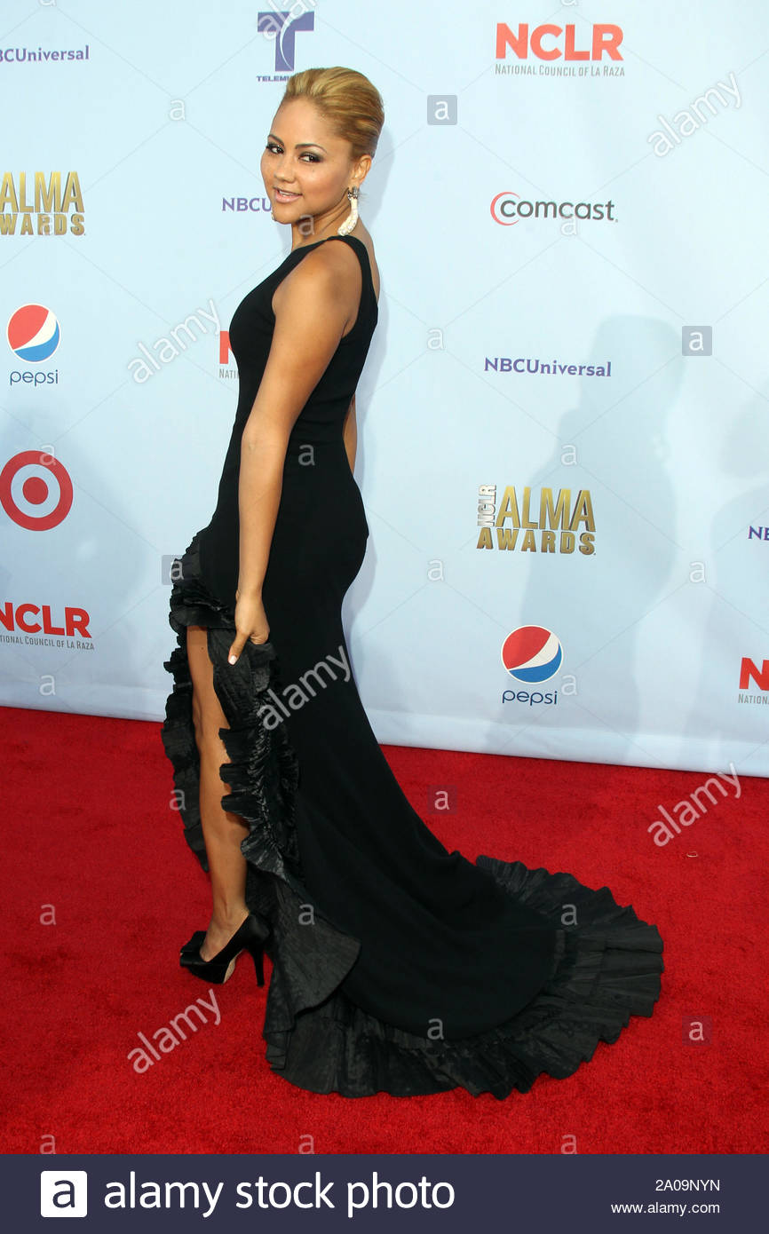 Pasadena, CA - Kat Deluna on the red carpet for the 2012 NCLR ALMA Awards at Pasadena Civic Auditorium. AKM-GSI September 16, 2012 Stock Photo