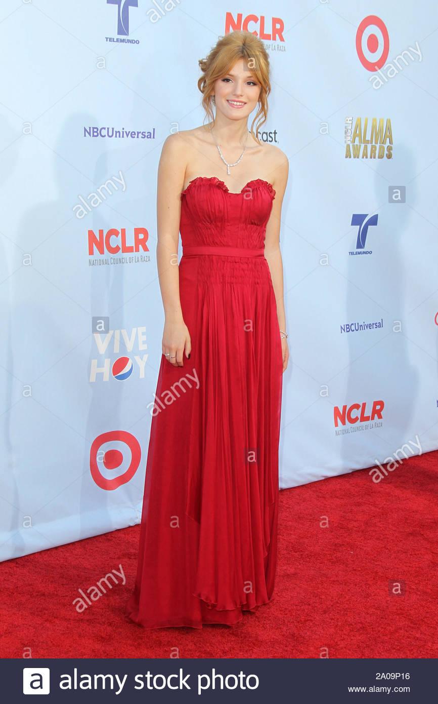 Pasadena, CA - Bella Thorne on the red carpet for the 2012 NCLR ALMA Awards at Pasadena Civic Auditorium. AKM-GSI September 16, 2012 Stock Photo