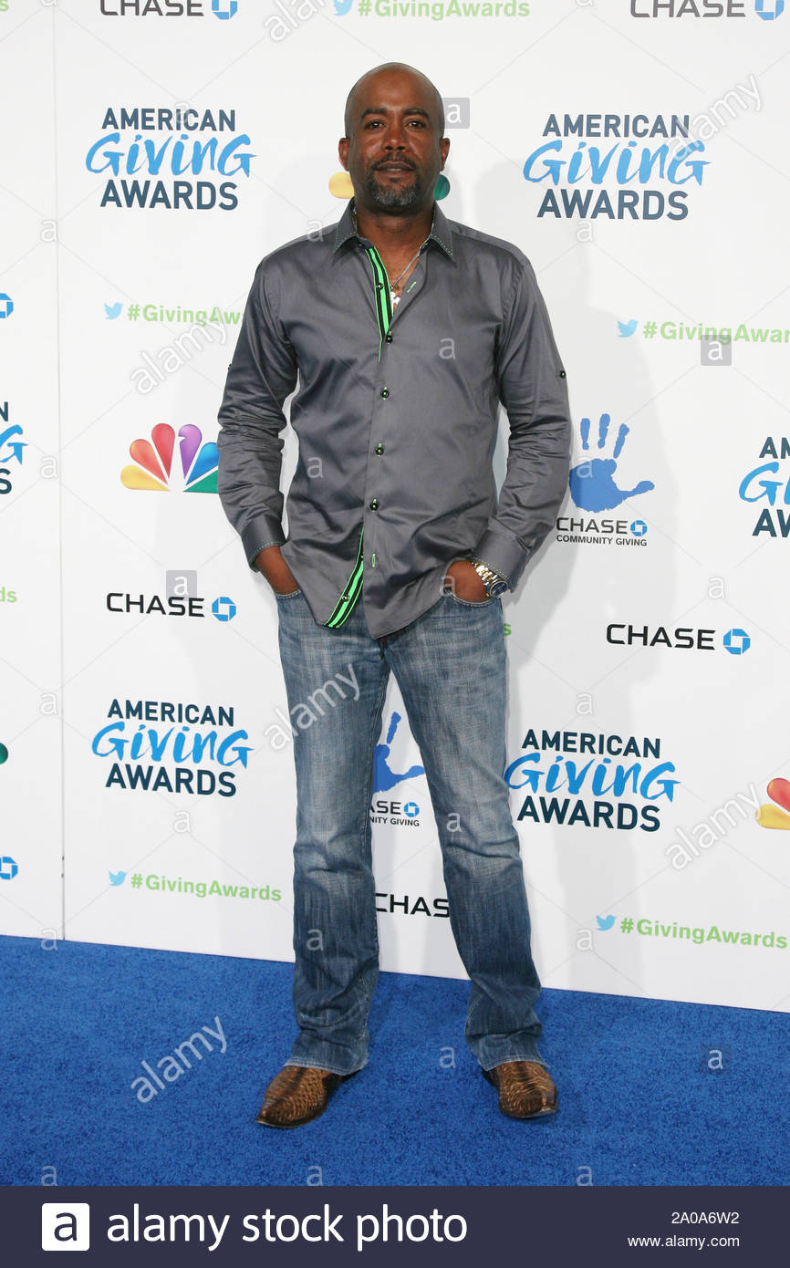 Pasadena, CA - Darius Rucker arrives at the 2012 American Giving Awards, presented by Chase, held at the Pasadena Civic Auditorium. AKM-GSI December 7, 2012 Stock Photo