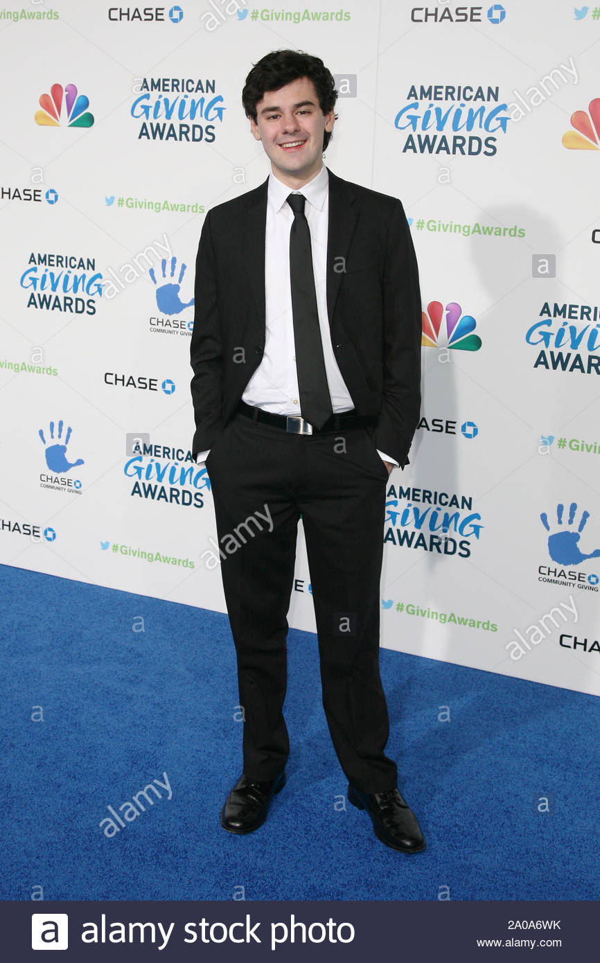 Pasadena, CA - Brendan Robinson arrives at the 2012 American Giving Awards, presented by Chase, held at the Pasadena Civic Auditorium. AKM-GSI December 7, 2012 Stock Photo