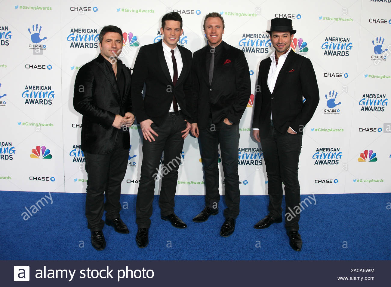 Pasadena, CA - The Canadian Tenors arrives at the 2012 American Giving Awards, presented by Chase, held at the Pasadena Civic Auditorium. AKM-GSI December 7, 2012 Stock Photo