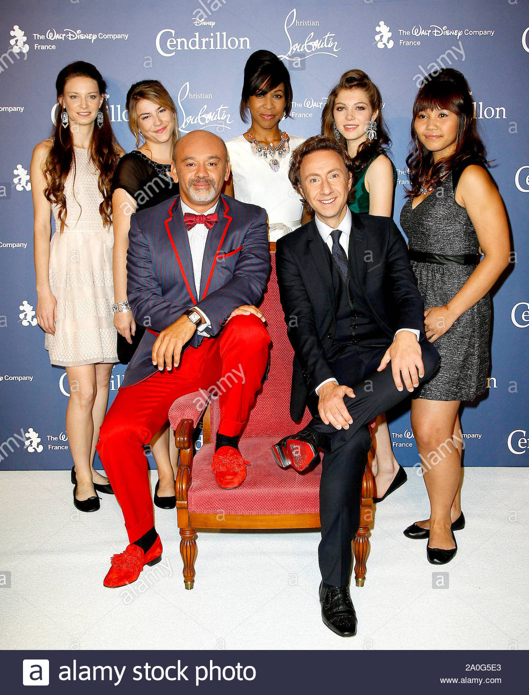 Paris France French Designer Christian Louboutin Hosts The Event Cendrillon Louboutin Held At The Grand Rex Cinema To Celebrate The Release Of Cinderella In Blu Ray Disney Asked The Designer To Create In
