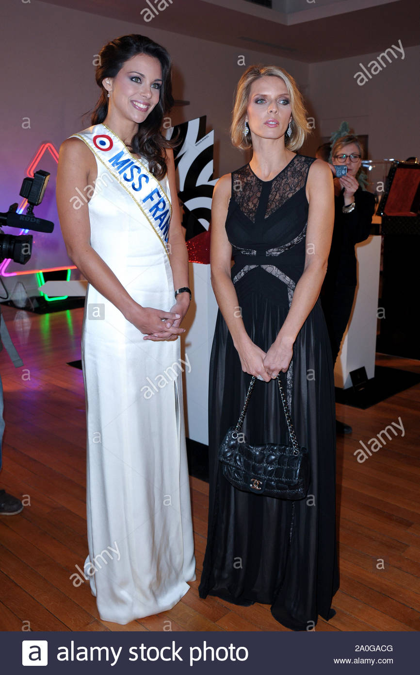 Paris France 2013 Miss France Marine Lorphelin Attends The 17th Christmas Trees Creators The 17th Les Sapins De Noel Des Createurs Is An Exhibition Of Christmas Trees Designed By Top French