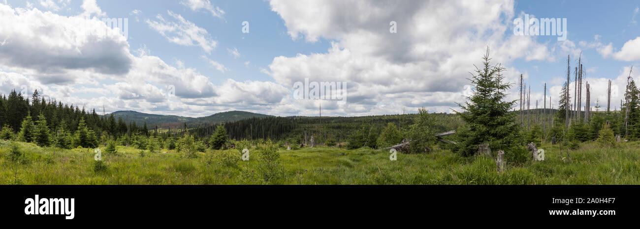 Landschaft im Boehmerwald Stock Photo