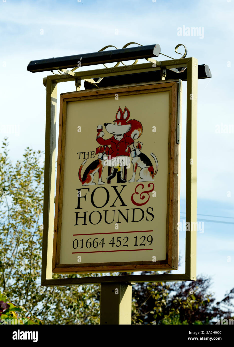 The Fox and Hounds pub, Knossington, Leicestershire, England, UK Stock Photo