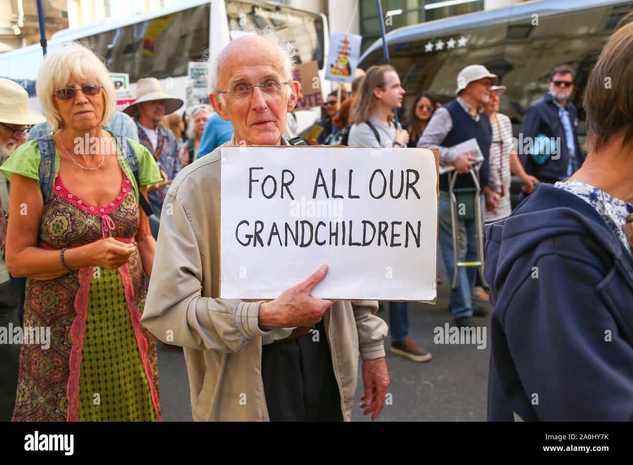Global Climate Strike protest, Birmingham UK Stock Photo
