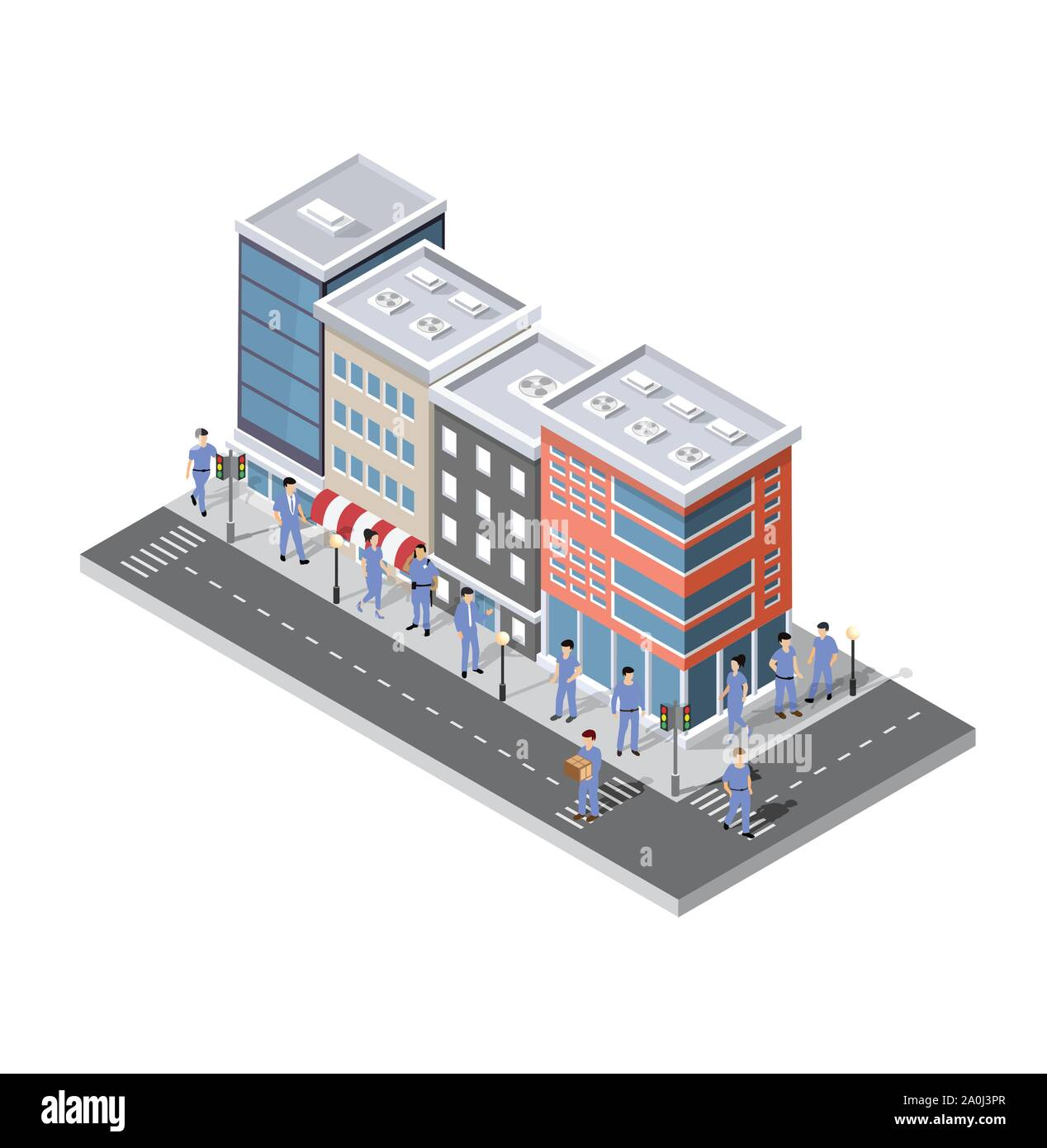 People walking around the city Stock Vector