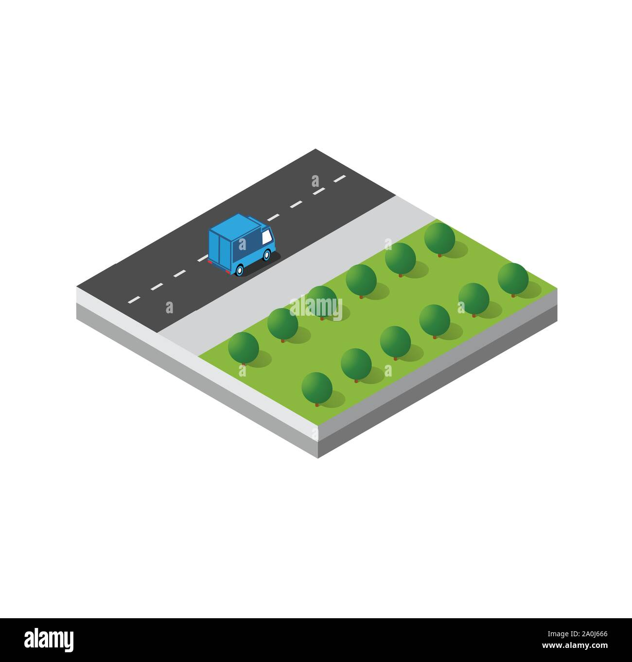 Isometric 3d module block Stock Vector