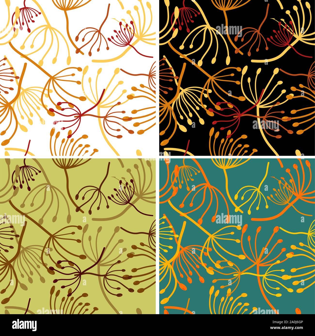 Vintage Card For Wallpaper Design Seamless Floral Wallpaper