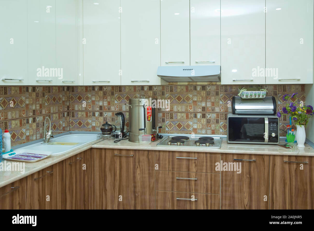 Brown And White Kitchen Design Refrigerator Modern Kitchen With Brown Kitchen Cabinets Oversized Kitchen Stylish Interior With Dining Stock Photo Alamy,United Airlines Baggage Restrictions Basic Economy