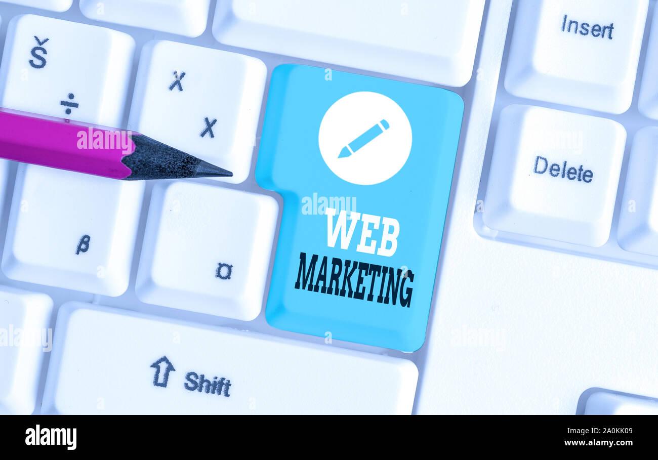 Word writing text Web Marketing  Business photo showcasing
