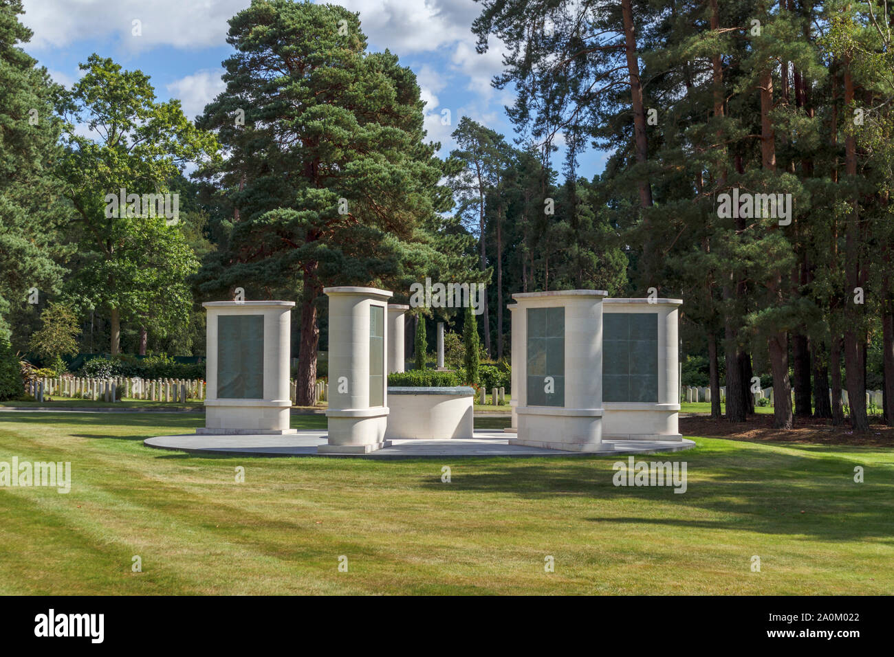 The Brookwood 1914-1918 Memorial in the Military Cemeteries at Brookwood Cemetery, Pirbright, Woking, Surrey, southeast England, UK Stock Photo