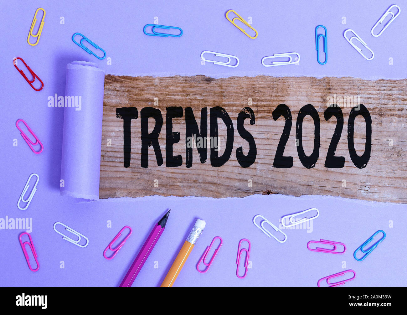 Upcoming Trends 2020.Writing Note Showing Trends 2020 Business Concept For