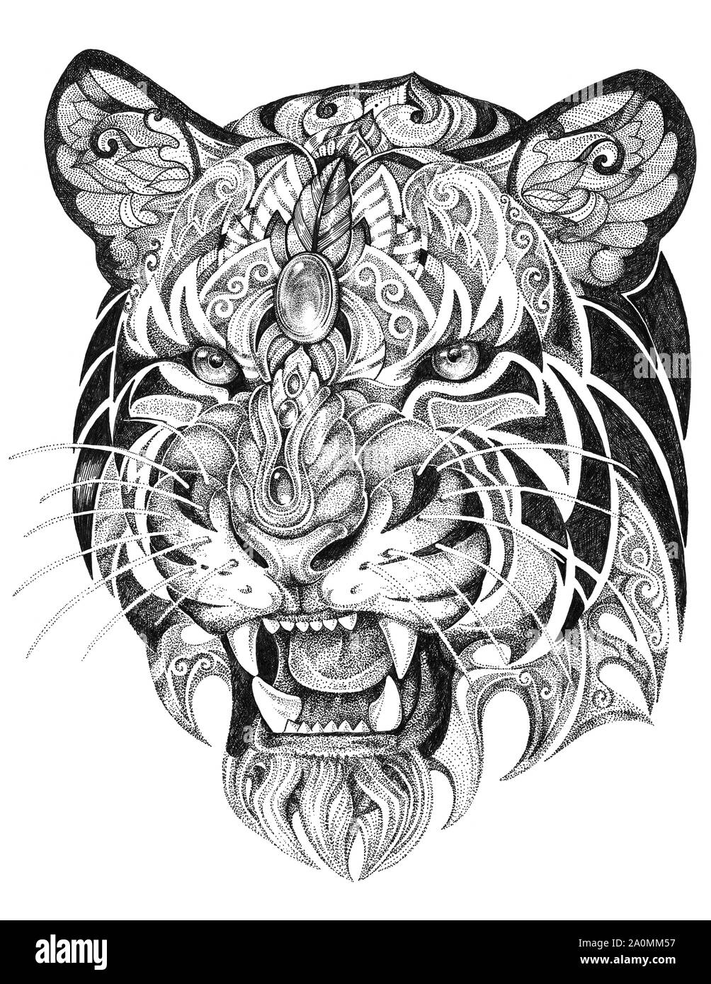 Tiger Tattoo Art High Resolution Stock Photography And Images Alamy