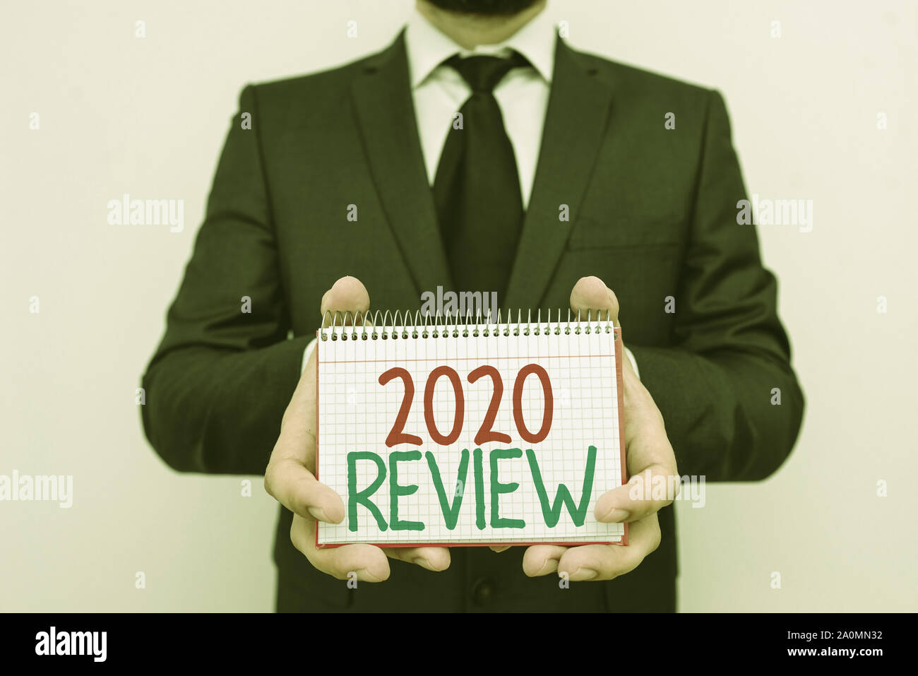 Important Events 2020.Conceptual Hand Writing Showing 2020 Review Concept Meaning