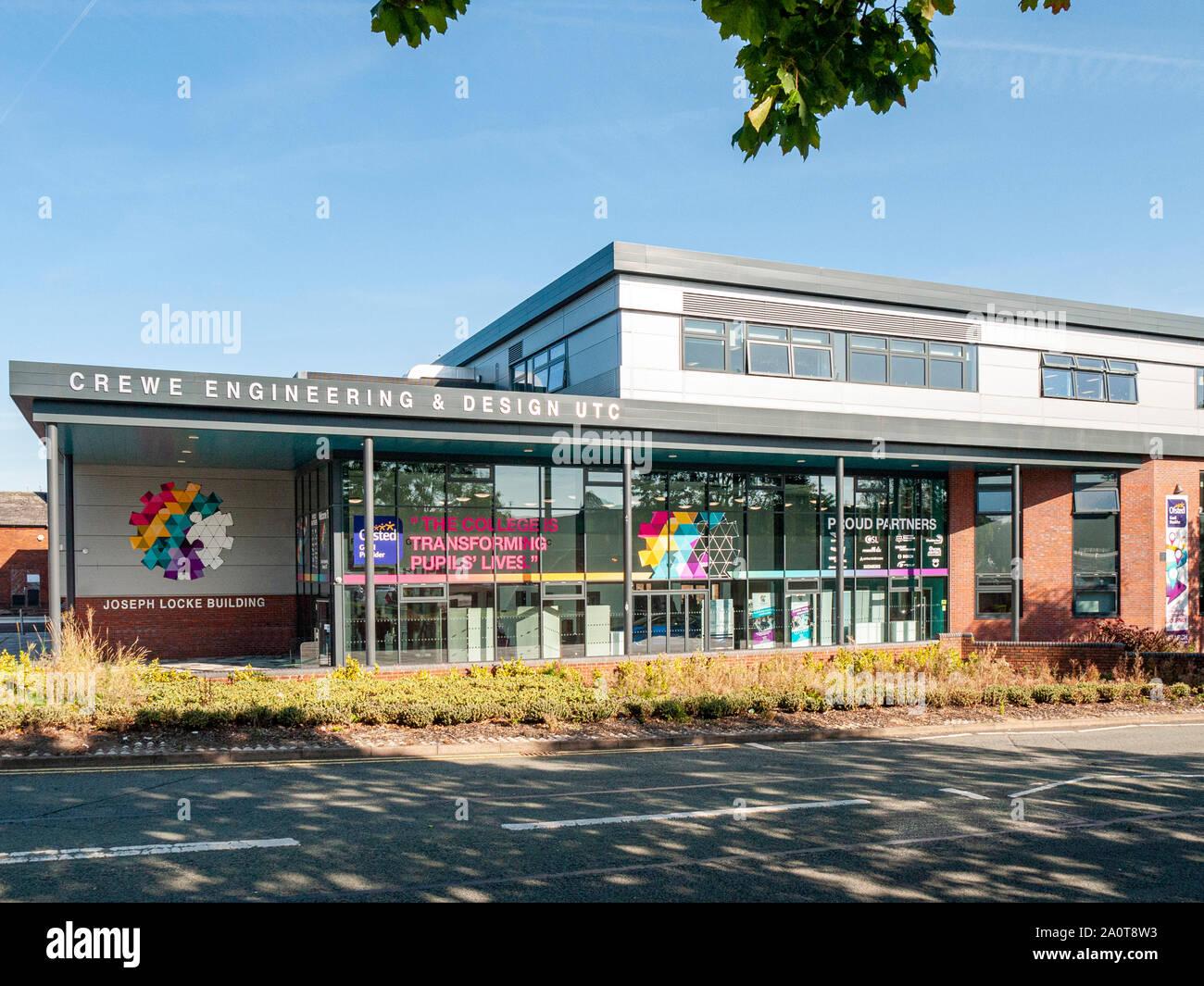 Crewe Engineering And Design Utc In Joseph Locke Building Crewe Cheshire Uk Stock Photo Alamy