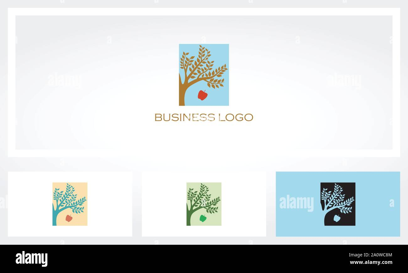 Apple Tree Logo Stock Vector Image Art Alamy