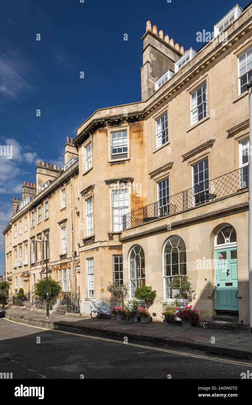 Georgian townhouses in Rivers Street, Bath. A UNESCO World Heritage Site, UK Stock Photo