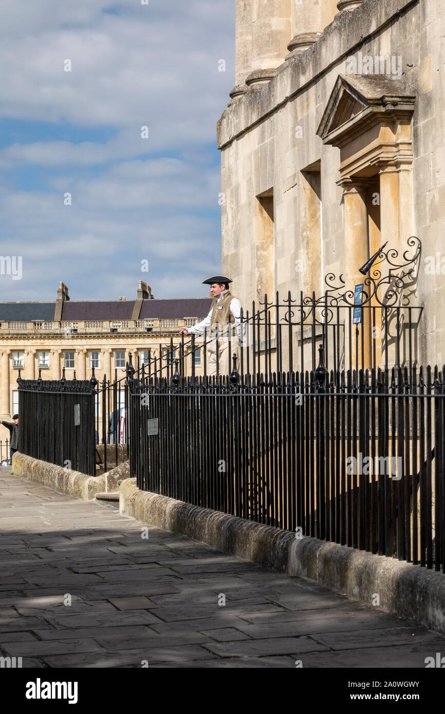 No.1 The Royal Crescent, City of Bath, Somerset, England, UK. A UNESCO World Heritage Site. Stock Photo