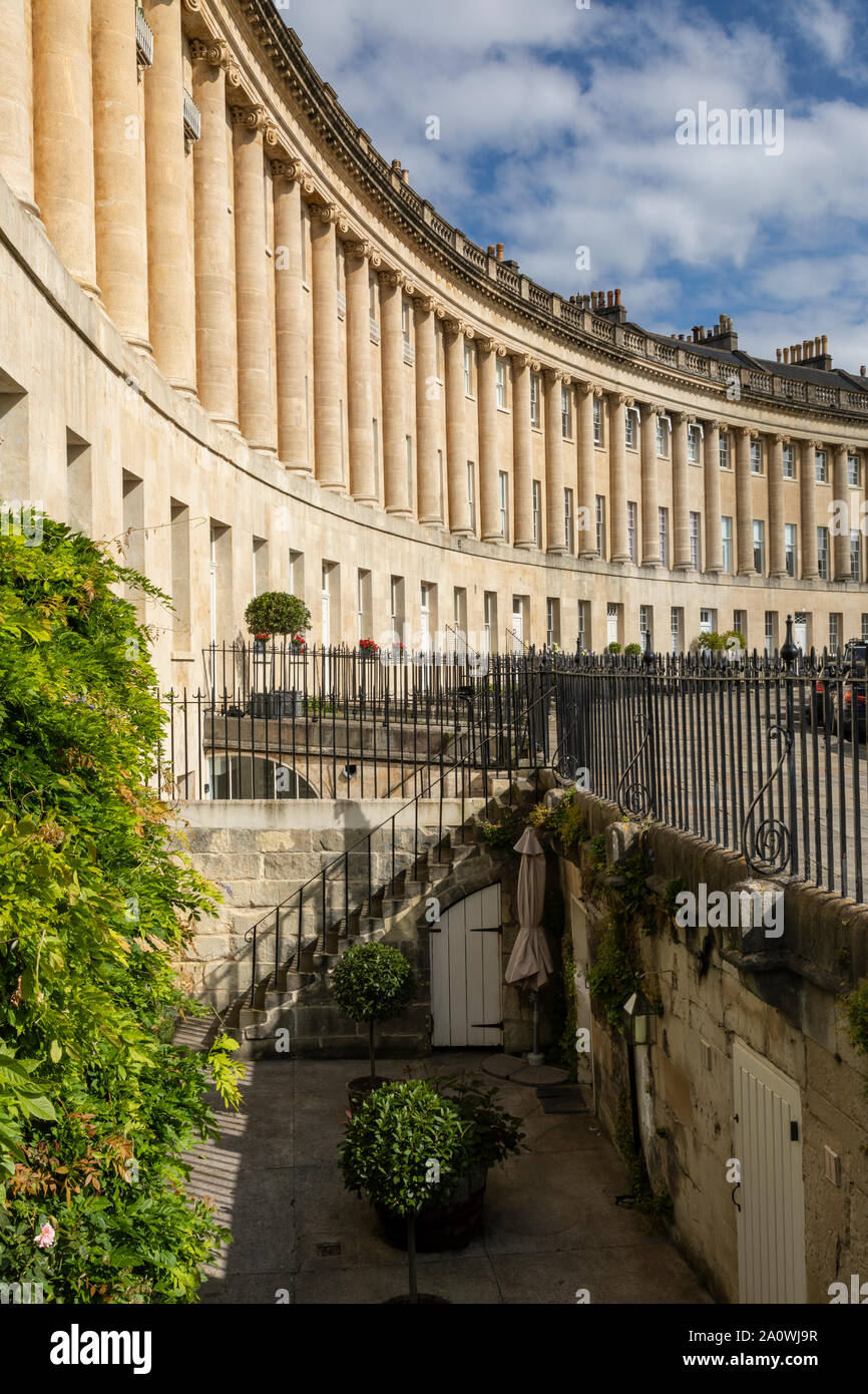 18th Century Georgian Architecture of The Royal Crescent, Bath, England Stock Photo