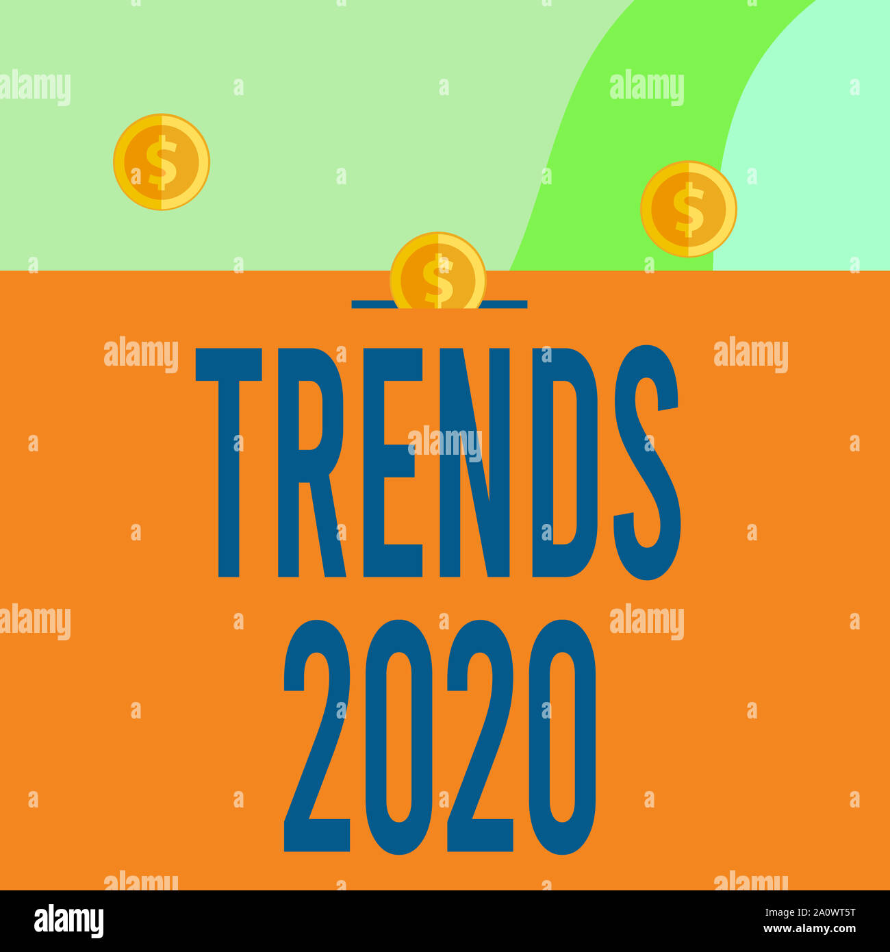 Upcoming Trends 2020.Text Sign Showing Trends 2020 Business Photo Showcasing