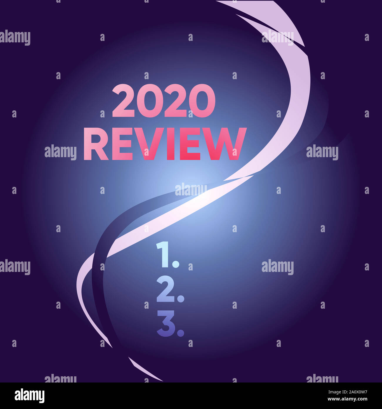 Important Events 2020.Handwriting Text Writing 2020 Review Conceptual Photo