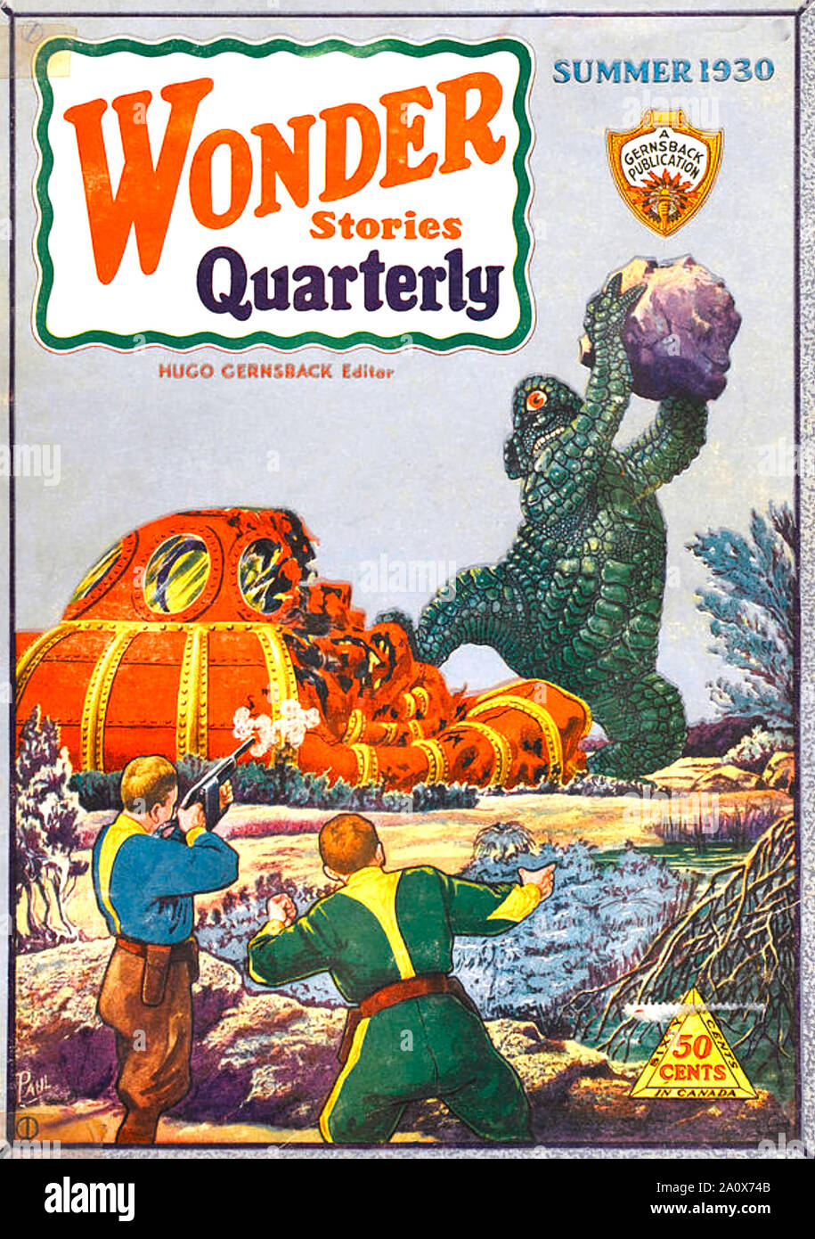 Amazing Stories Quarterly Summer 1930 A4 Glossy Vintage Sci-Fi Comic//Magazine Cover Art Print