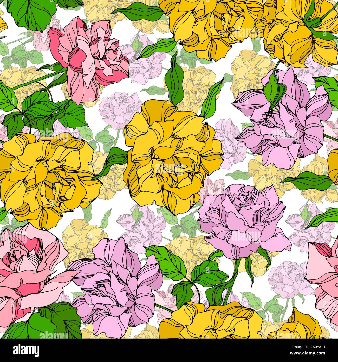 Vector Rose Floral Botanical Flowers Wild Spring Leaf Wildflower