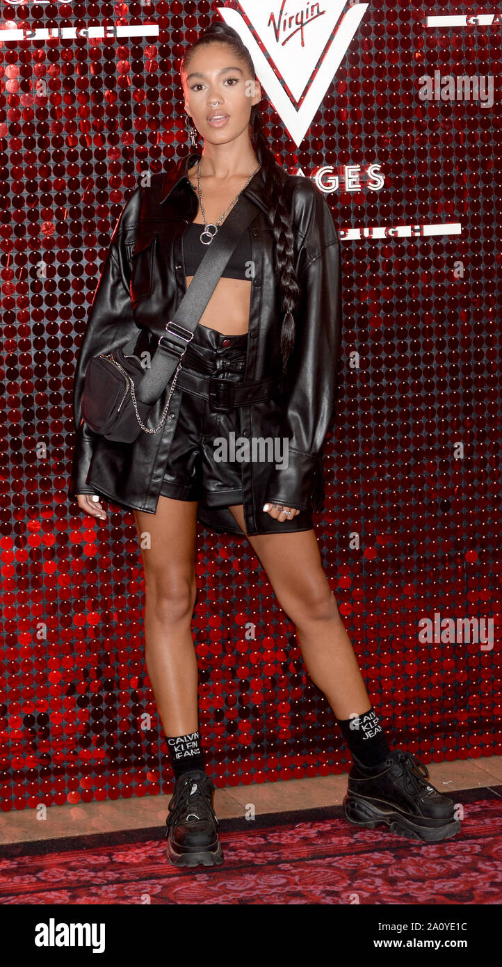 Photo Must Be Credited ©Alpha Press 078237 15/09/2019 Brionka Halbert at the Virgin Voyages and Gareth Pugh Uniform Capsule Collection launch party at The Royal Opera House in London. Stock Photo