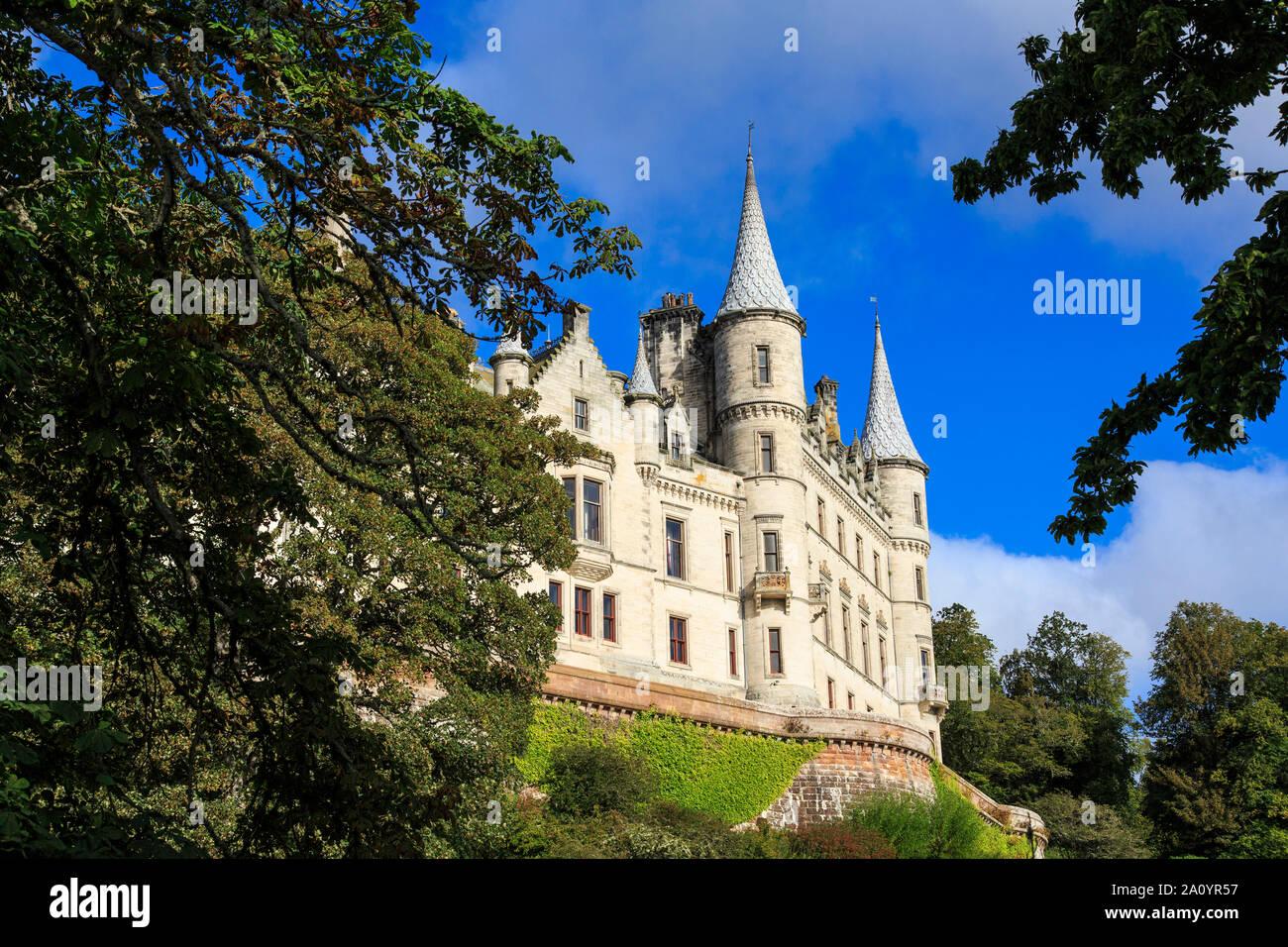 Dunrobin Castle in Morayshire, Scotland. Stock Photo