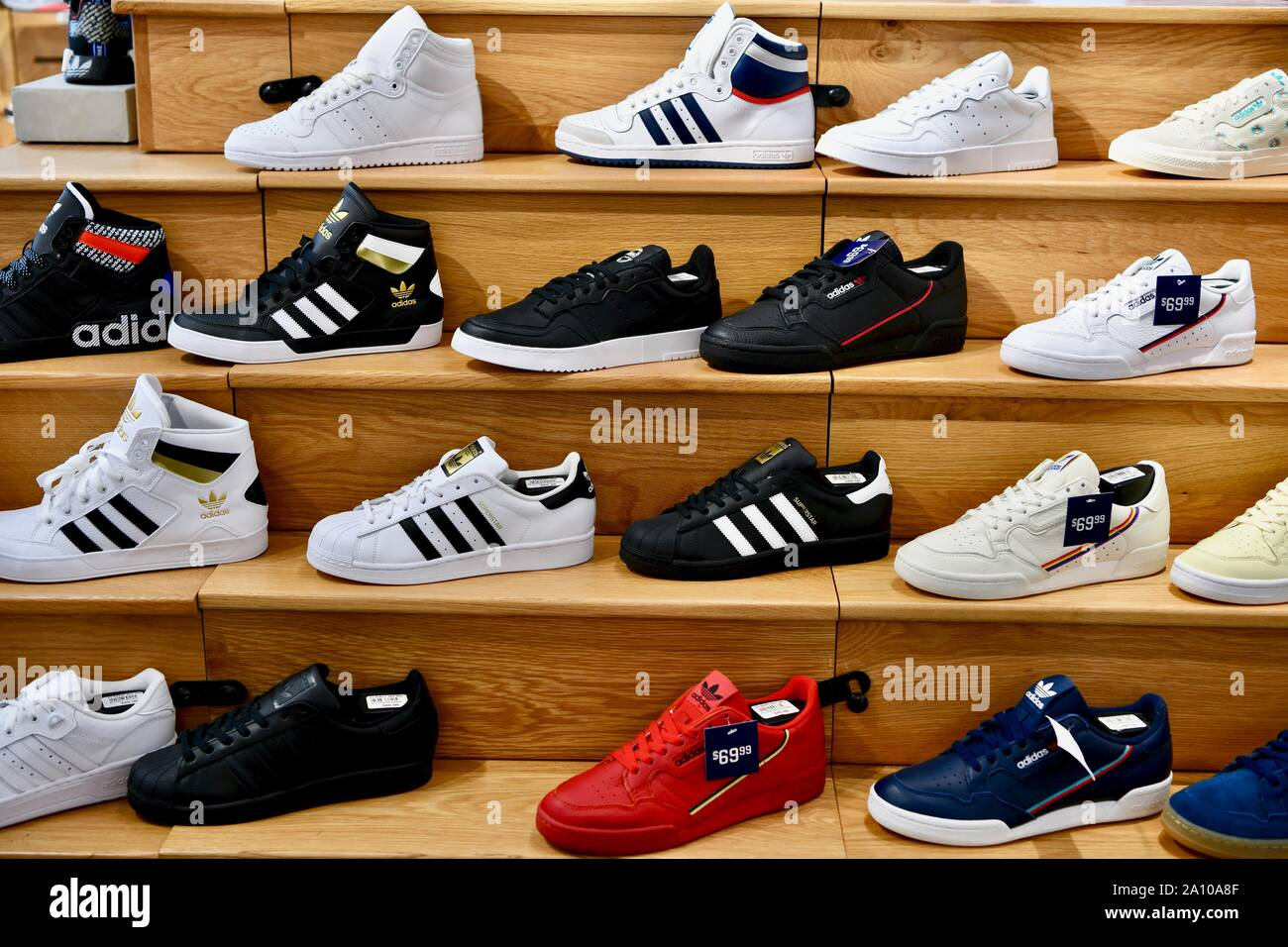 Adidas shoes in the flagship Adidas