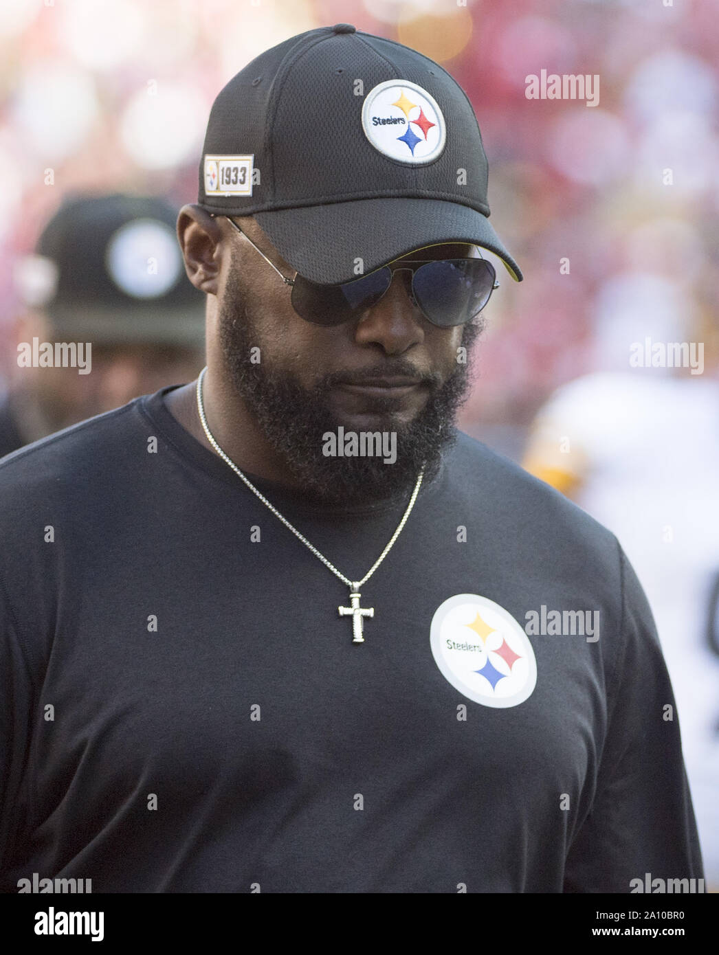 Pittsburgh Steelers Head Coach Mike Tomlin Leaves The Field