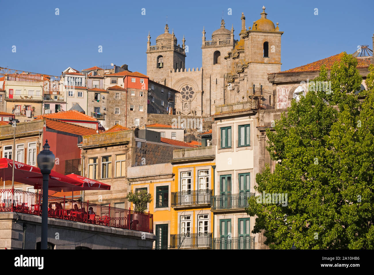 View to Sé Cathedral Porto Portugal Stock Photo