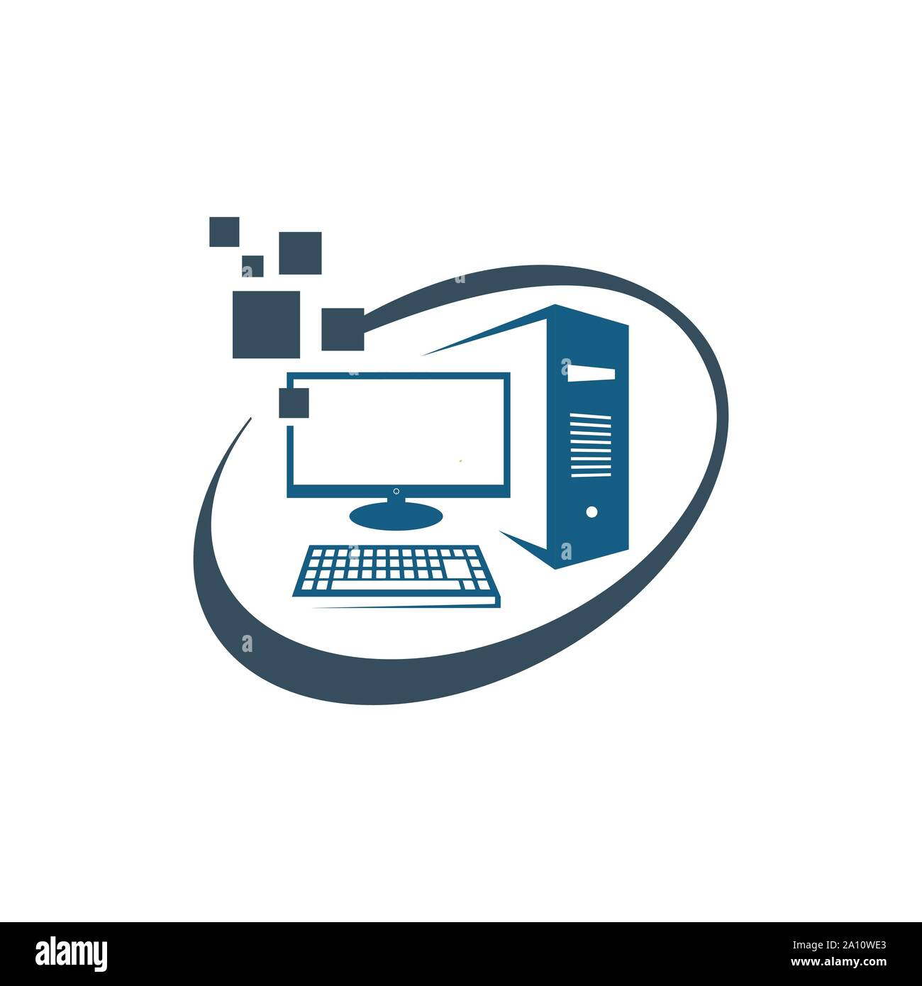 computer desktop PC logo design vector icon illustrations Stock Vector  Image & Art - Alamy