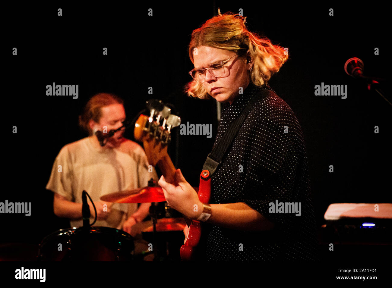 Copenhagen, Denmark. 21st, September 2019. The British band Penelope Isles performs a live concert at Ideal Bar in Copenhagen. (Photo credit: Gonzales Photo - Christian Hjorth). Stock Photo