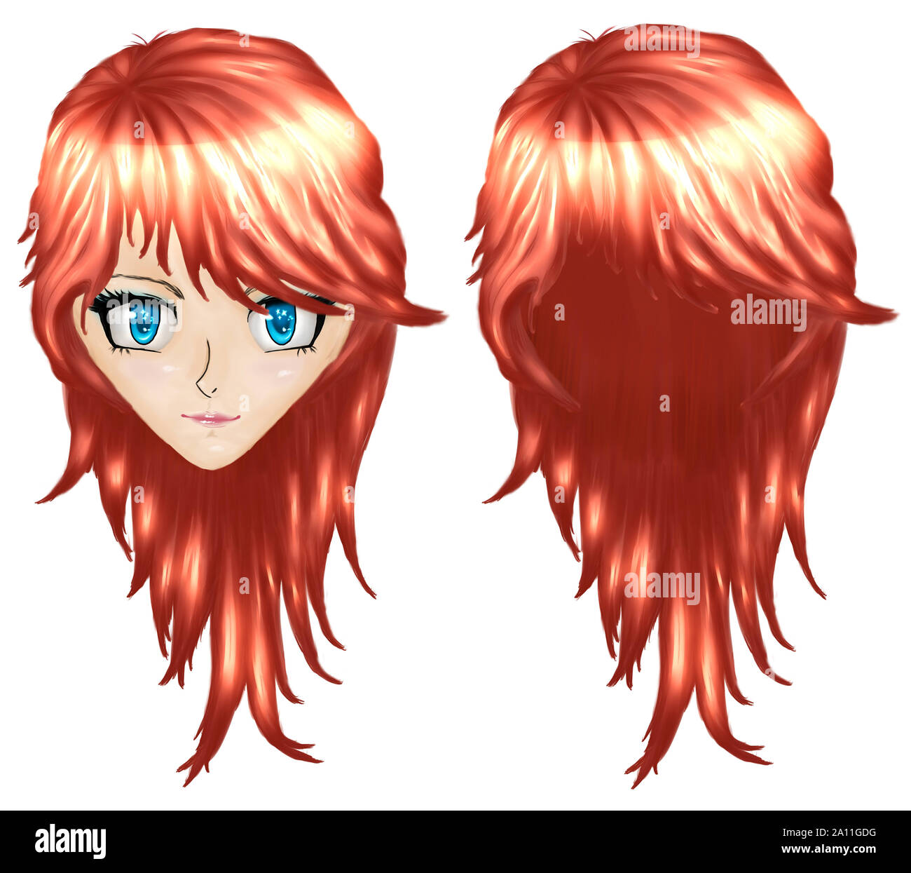 26+ Anime Red Haired Girl  Wallpapers