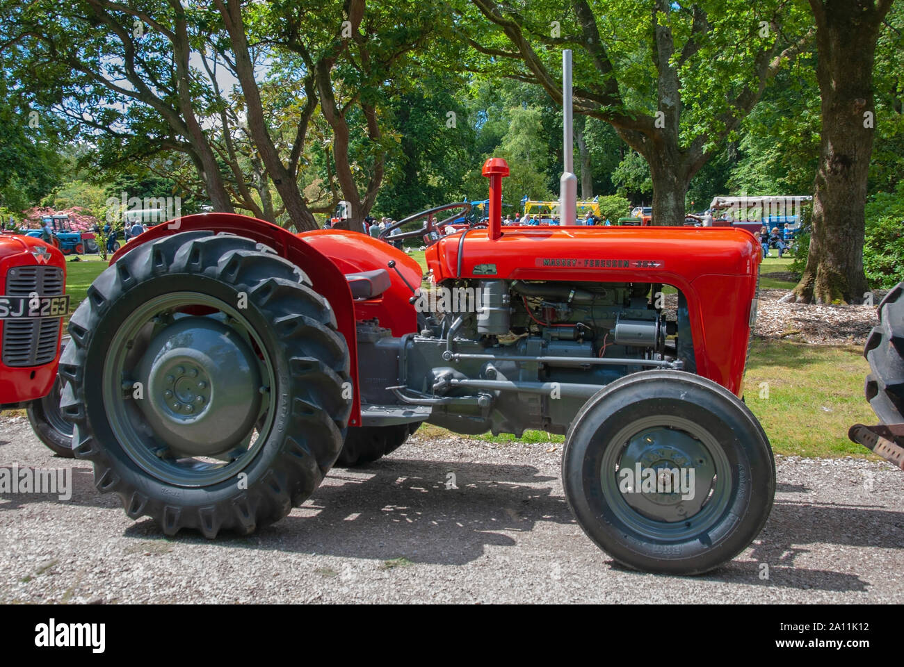 Immaculate 1963 Red Grey Massey Ferguson 35X Model Tractor