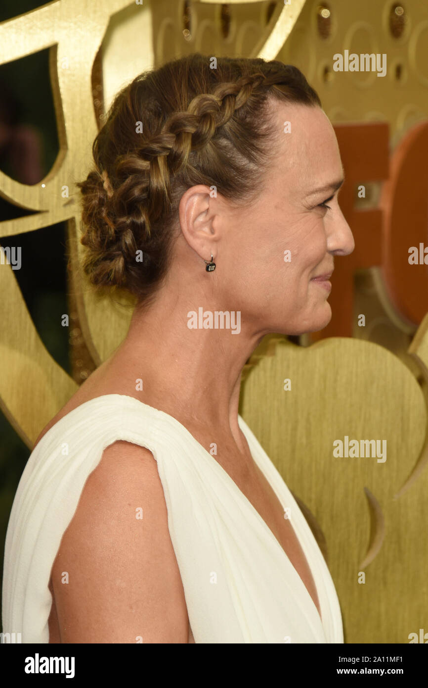 September 22, 2019, Los Angeles, CA, USA: LOS ANGELES - SEP 22:  Robin Wright at the Primetime Emmy Awards - Arrivals at the Microsoft Theater on September 22, 2019 in Los Angeles, CA (Credit Image: © Kay Blake/ZUMA Wire) Stock Photo