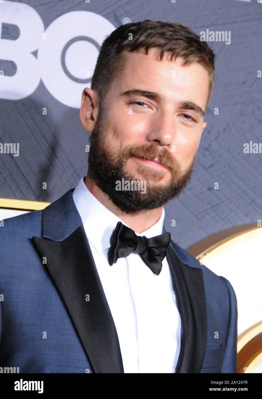 West Hollywood, California, USA 22nd September 2019 Actor Dustin Milligan attends HBO's Post Emmy Award Reception following 71st Primetime Emmy Awards on September 22, 2019 at The Plaza at the Pacific Design Center in West Hollywood, California, USA. Photo by Barry King/Alamy Live News Stock Photo