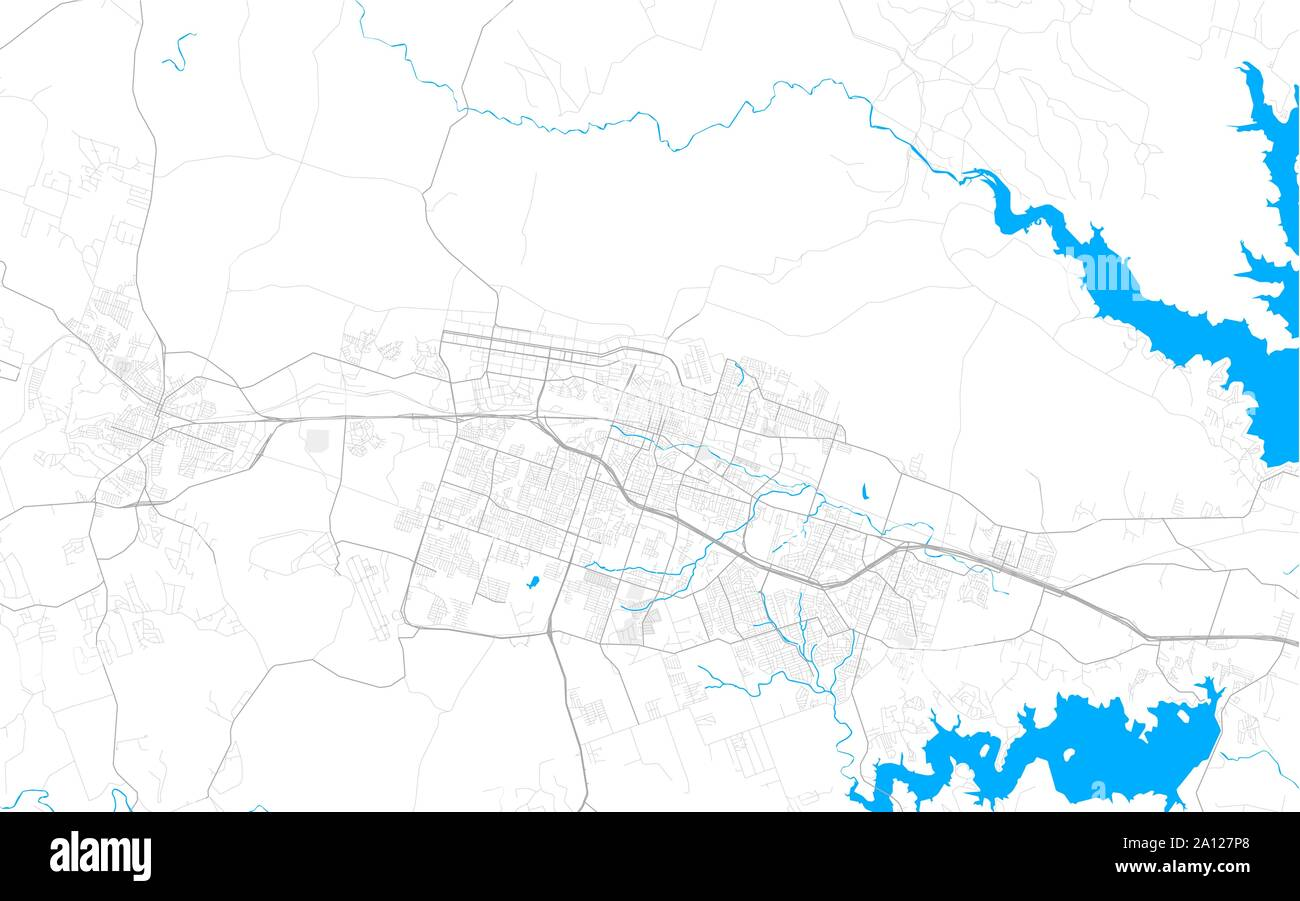 Rich Detailed Vector Area Map Of Killeen Texas Usa Map Template