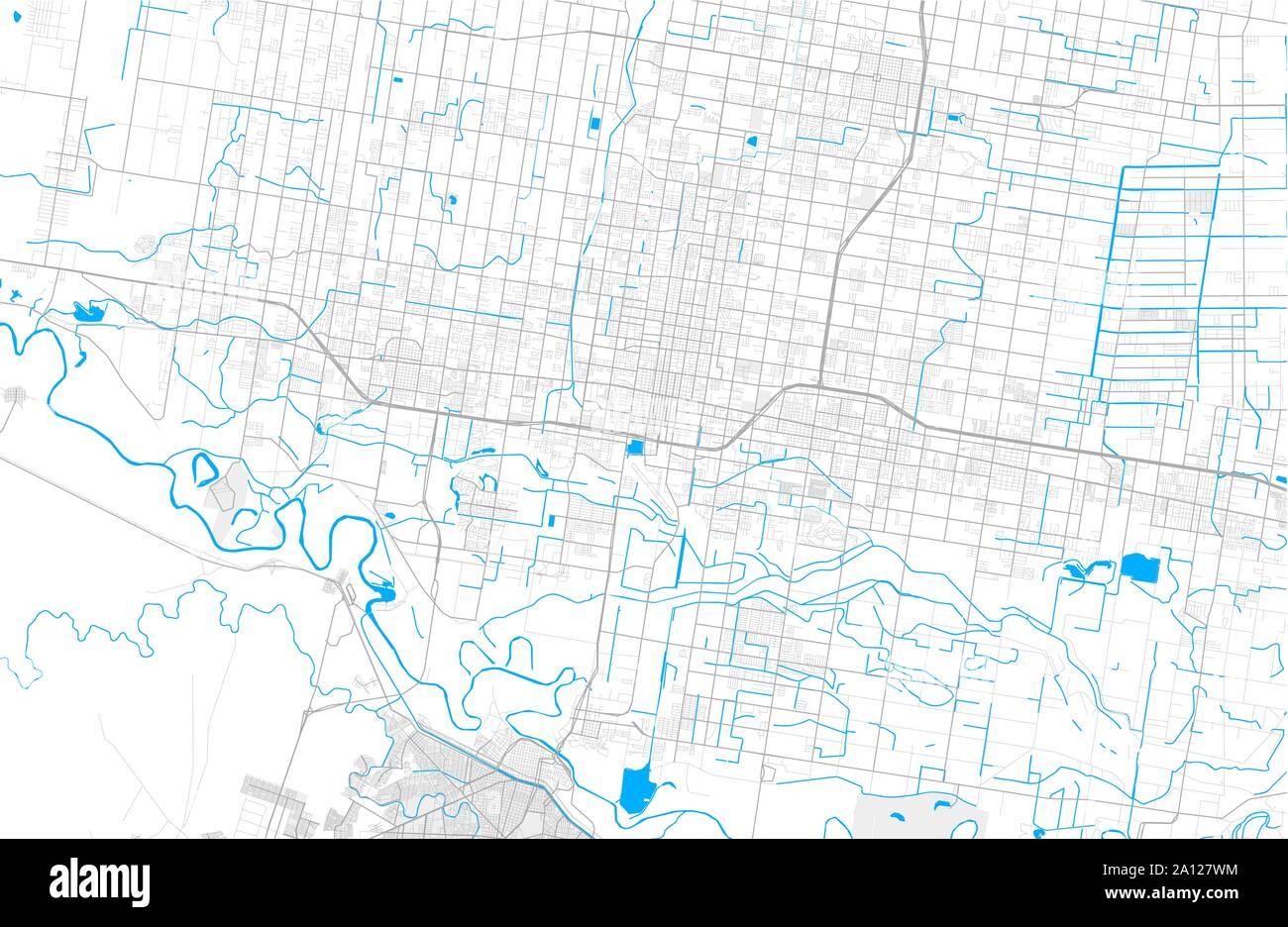 Rich Detailed Vector Area Map Of Mcallen Texas Usa Map Template