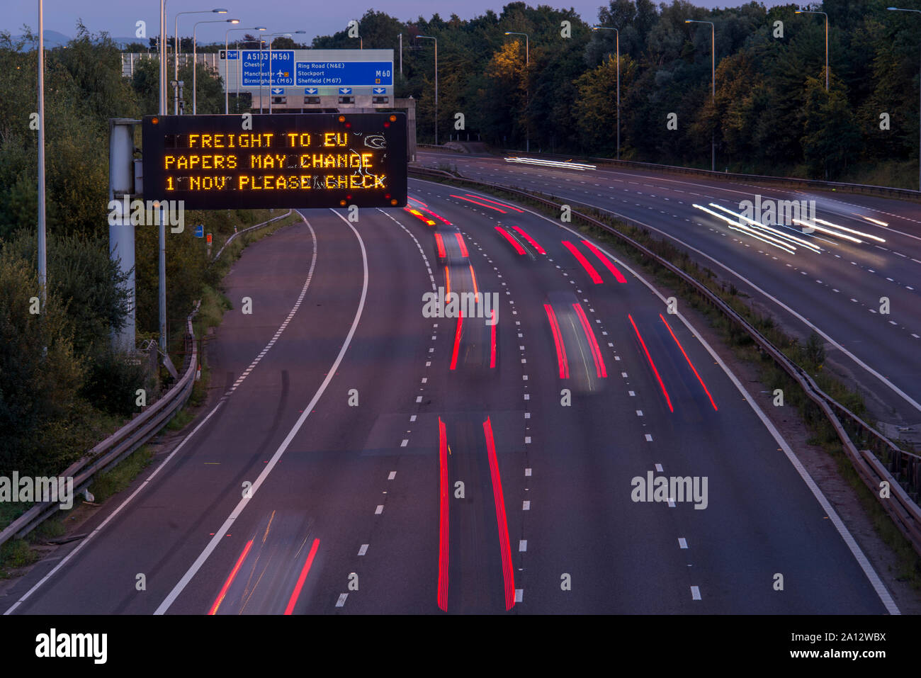 Page 3 - Motorway Signage High Resolution Stock Photography and ...