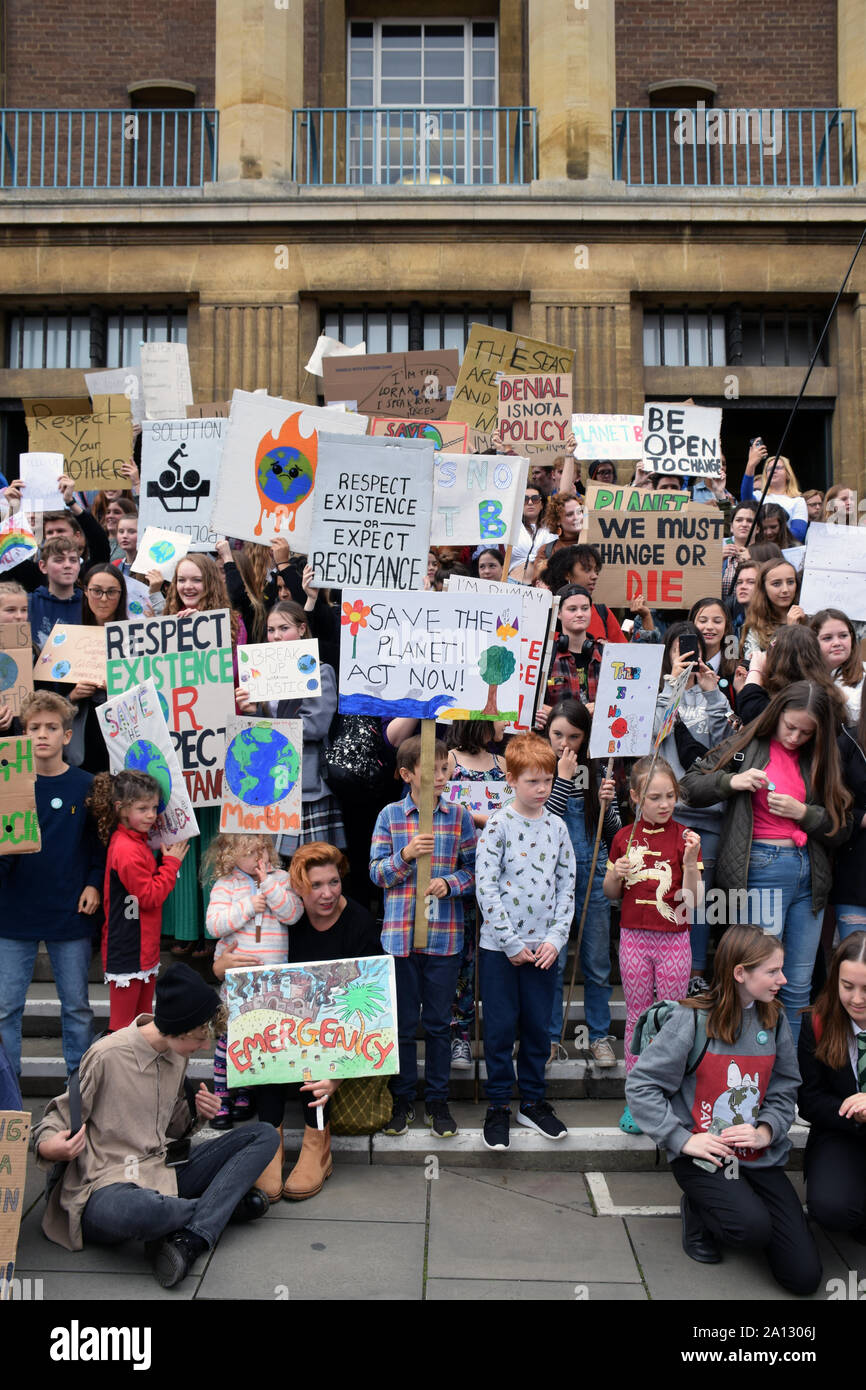 School Strike for Climate, Norwich, UK, Friday 20 September 2019 Stock Photo