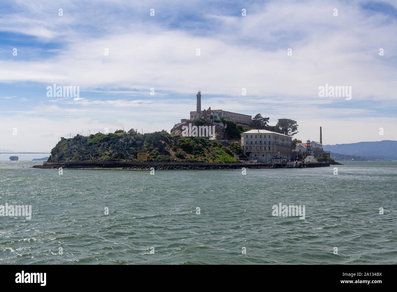 Alcatraz island in San Francisco bay, USA Stock Photo