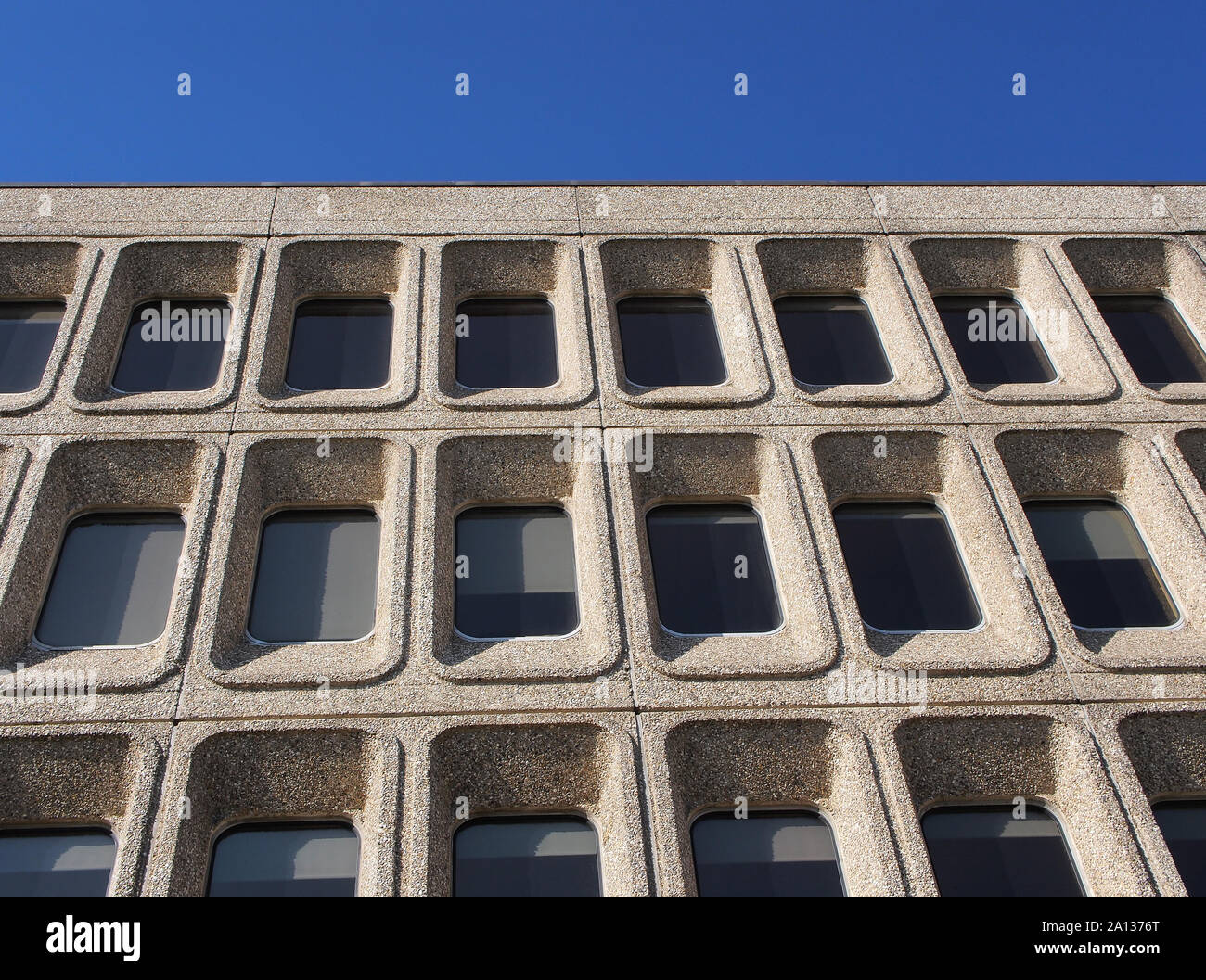 Riverside House, Northampton. Iconic example of late brutalist architecture Stock Photo